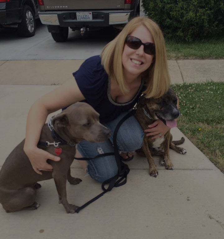 Lindsey with dogs